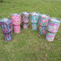 Wholesale Flamingo Crown Colorful Yowies Tumbler Stainless Steel Double Wall Vacuum Insulated Tumbler With Lid OZ Camping Cup Mug DOM370
