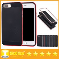 Wholesale Sgp Neo Hybrid Iphone 4s - SGP Ultra Slim Neo Bumblebee Hybrid TPU+PC Shockproof Cover Cases for iPhone 4 4S 5 5S SE 6 6S iPhone 7 7 Plus