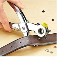 eyelets punch großhandel-heißer verkauf 1 satz / los Punch Holes hinzufügen Ösen fixieren gebrochen snaps lochen löcher nach hause Zangen werkzeug