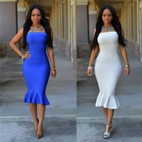 Wholesale Party Tube Dress - Elegant Sexy Club Night Tube Dresses Strapless Mermaid bodycon dress skirts for night out Club party evening dress