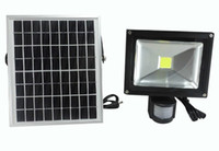 10W Solar Power LED Floodlight Pir Infrared Motion Carport Lampe de sécurité High Brightness Outdoor Waterproof Garden Flood Wall Light