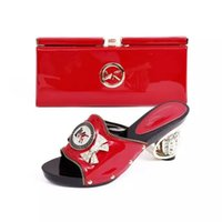 Wholesale Dress Shoes Bag - VIVILACE 2016 New Fashion Italian Shoes With Matching Bag Set MJ01-RED For Party High Quality Summer Style Shoes And Bags Set For Wedding