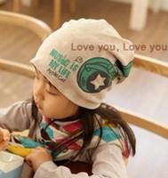 Wholesale Crochet Hat Headphone - fashion New Hot Sale New Spring Baby Kid Infant Sanded Cotton Headset Print Cap Children Beanie Headphone Hats Kid's Accessories