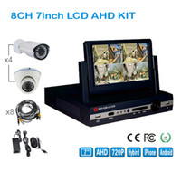Wholesale Kit Camera 3g - 1 4 8 Display Screen NVR Kit 8CH 1080P 720P 960H SUPPORT 3G  WIFI P2P Network Video Recorder with 8 Camera & Cable AHD-RH6804KIT