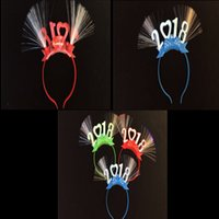 2018 Ano Novo LED Head Hoop Plástico Flashing Headband Glowing hairband Natal Festas de Halloween Rave Toy Mixed Colors DHL grátis