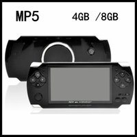 """Wholesale Mp4 Av Out - 4.3"""" LCD Game Console PMP MP4 MP5 game Player 4GB  8GB Free 2000+ games Media Player AV-Out FM with Camera"""