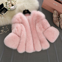 Wholesale Black Fur Gilet - Faux Fur Gilet Colete Pel 2017 New Winter Pink Faux Fur Coat Waistcoat Plus Size 4XL Furry Thick Faux Fur Jacket