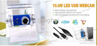 usb pc cámara micrófono al por mayor-10.0M Pixel USB Webcam Web Cam Camera PC Notebook + Mic