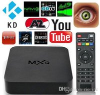 Wholesale Arabic Iptv Wholesale - MXQ Android TV Box Arabic Iptv Smart Android Boxes Quad Core OTT Amlogic 32Bit S805 Media Player Hot Selling PK MXQ Pro