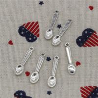 ingrosso braccialetto di fascino del cucchiaio-384pcs charms cucina cucchiaio da cucina 24mm ciondolo, argento tibetano / bronzo / pendente glod, per braccialetti collana fai da te accessori gioielli