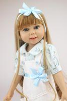 bonecas de silicone americano venda por atacado-18''Fashion Girl American Doll Realistic Soft Silicone Cheio Reborn Baby Doll Natal e Presente de Aniversário Para As Crianças