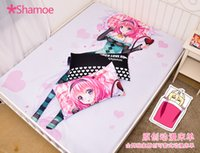 Wholesale Anime Cartoon To Love Milk Silk Mattress Cover Fitted Sheet Fitted cover bedspread counterpane No