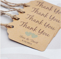 Wholesale personalized thank you wedding tags with colors heart you can choose paper wedding favor tags Personalized Gift Tags
