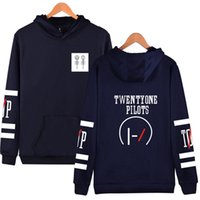 Compra Mens Xs Hoodies-Twenty One Pilots Hooded Hoodies Uomini Zipper Rock Band Hip Hop Mens Felpe con cappuccio e felpe Fashion Funny Clothes 4XL