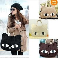 2014 New Spring donne del gatto di Borsa Fashion Girls Animal epoca nero Shopping Borse Crossbody Bags