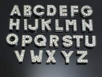 letras del perro del diamante artificial al por mayor-130 Unids / lote DIY Crystal Slide Cartas Con Encantos Del Rhinestone Para 8mm Collares Para Perros Mascotas A-Z Cartas DIY Encantos