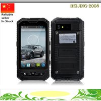 Wholesale Gorilla Cell Phone - Original A8 Waterproof 3G Smart Phone Android 4.2 MTK6572 Dual Core Rugged Cell SIM Gorilla Glass 4.0 Inch IPS GPS WCDMA Unlocked phone