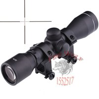 Wholesale Illuminated Hunting Rifle Scopes - Hunting Optics 4X32 Airsoft Optical Rifle Scope Sight With Rail Mount Illuminated Telescopic Scope Tactical hunting sight Optical sight