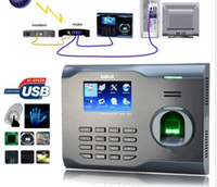 Wholesale Id Card Models - Biometric Wifi Fingerprint & rfid Card Time Attendance Clock +Build Id Wifi Model tcp ip Attendance Management System