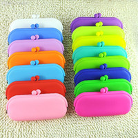 Gros-caoutchouc silicone Pouch Purse Wallet Glasses Cellphone Cosmetic Bag Case Coin EQ6261