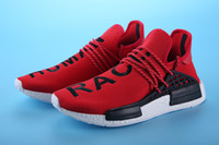 Wholesale Men Fashion Shoes Cheap Prices - 2016 Hu NMD Pharrell's Runners NMD Boost Human Race NMD Runner Boost Discounted Price Cheap Sale RED Sneaker Fashion Shoes Online