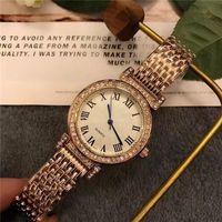 Wholesale Girls Wrist Bands - 3 colors Luxury ladies watches Top brand Designer Diamond Stainless Steel band Quartz wrist watch For women girls Valentine Gift relogios
