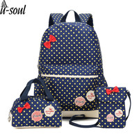 Wholesale cute vintage backpacks - Korean Cute Printing Backpack Women School Bags For Teenage Girls Cute Bookbags Vintage Laptop Backpacks Female Sc0343