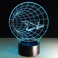 Wholesale christmas lights batteries timer resale online - 2016 Timer Tunnel D Optical Illusion Lamp Night Light DC V USB AA Battery Dropshipping Retail Box