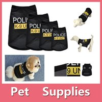 Wholesale Black Sweater Dress Small - Newest Protable Cat Small Dog Puppy Vest POLICE K-9 UNIT T-Shirt Coat Pet Clothes Costumes With 4 Sizes XS-L