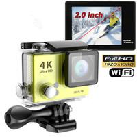 Wholesale 12m Camera - Ultra HD 4K 1080P 12M WiFi Sport Action Camera Diving Waterproof DV Helmet Video Camcorder DVR SJ8000 Eken H9+ OTH192