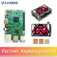 Wholesale Raspberry Pi Heat Sink - Raspberry Pi 3 Model B Board + 3.5 TFT Raspberry Pi3 LCD Touch Screen Display + Acrylic Case + Heat sinks For Raspbery Pi 3 Kit