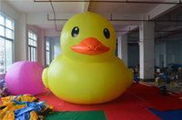 Wholesale christmas inflatable giant advertising cartoon Popular big inflatable ducks float on water big yellow duck