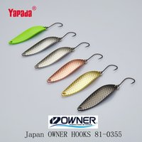 Wholesale Small Metal Hooks - YAPADA Spoon 013 Loong Claw OWNER HOOK 2g 32mm Multicolor 6piece lot Metal Small Spoon Fishing Lures Stream small fish