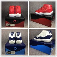 Wholesale slide leather - Classic 11 Basketball Shoes win like 82 96 11s UNC Chicago red gym red concord with OG Slide box Michael Sports