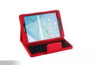 couvertures de clavier en plastique achat en gros de-Clavier en plastique ABS sans fil avec clavier en cuir PU pour Samsung Galaxy TabS2 9.7 pouces T810