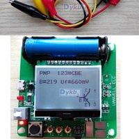 Wholesale Test Field - Wholesale-LCR ESR Meter Mega328 Digital Combo Transistor Tester Diode Triode inductor Capacitance resistor MOS PNP NPN + Test clip