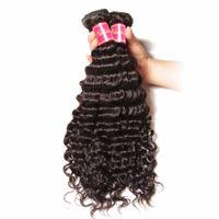 ingrosso capelli umani brasiliani singoli-Fasci di capelli brasiliani del tessuto dei capelli di colore 1B di estensioni dei capelli umani di estensioni 100% del singolo di Wave del brasiliano spediscono velocemente