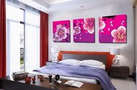 Modern Beautiful Flower Peach Blossom Painting Reproduction Giclée Sur Toile Home Decor Wall Art Set30364