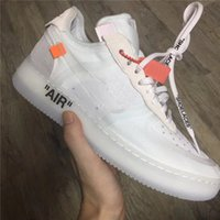 Wholesale Limited Run - 2018 The Ten 10 OFF WHITE x AF1 AF 1 Mans Running Shoes Join Limit Outdoor Shoes New Brand Sports Sneakers