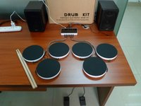 Wholesale Composite Instruments - Portable Electronic DRUM KIT Musical Instruments Percussion Drum set Electronic Drum Kit