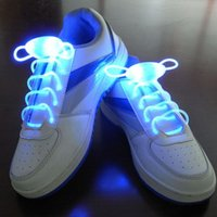 Chaussures De Nuit Pour Femmes Pas Cher-2016 Hommes populaires Femmes Light Up LED Shoelaces Party Glowing Night Running Shoe Laces Club Highlight Luminous Shoelace ZA1276