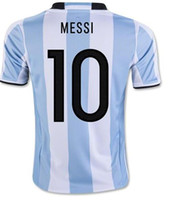 Wholesale America National - Argentina Messi 10 Home Soccer Jerseys,Thai Quality Customized 2016 Copa America national team Biglia #6 Soccer WEAR, Di Maria 7 Soccer Tops