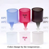 Magic Changeable Color Change Temperature Tubo de vidro Pyrex Replacement Replacementable Glass para TFV12 TFV8 Baby X Big RBA Vape Pen 22 Plus DHL