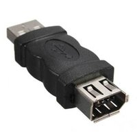 Wholesale Usb Firewire Female - 1Pc 6 Pin Female Firewire IEEE 1394 To USB Male Adaptor Convertor