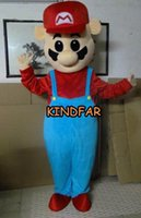Wholesale Super Mario Mascot Costume Adult Halloween Cartoon Party Outfits Custom Fancy Dress