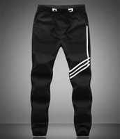 Wholesale Boys Striped Harem Pants - Fashion Brand Mens Sports Joggers Harem Pants Plus Size M-5XL Jogging 2016 Casual Men Boys Jogger Pant Male Sweatpants Trousers