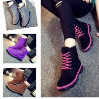 Wholesale Womens Winter Warm Shoes - Womens Ankle Boots Real Fur Winter Warm Thicken Shoes Snow Boots 5 color