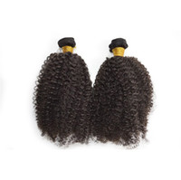 Wholesale black hair perm curly for sale - 100 Malaysian Human Hair Extensions Double Weft Kinky Curly weave natural black Unprocessed Human Hair Weave Mix length quot quot G EASY