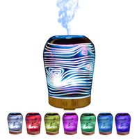 Wholesale Cup Mini Humidifier - New 3D Humidifiers Aroma Mist Diffuser Cup Shape Humidifier Easy To Use Portable Good For Relax 7 Colors Changing Mini Night Lamp