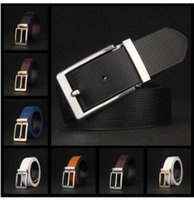 Wholesale Women S Leisure Jeans - Famous brand needle belt men's leisure and high-end business luxury leather belt ladies jeans leather belt 105-125 cm polychromatic choice A